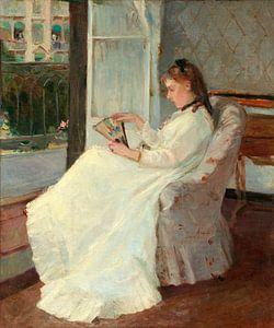 zuster van de kunstenaar in een Venster, Berthe Morisot