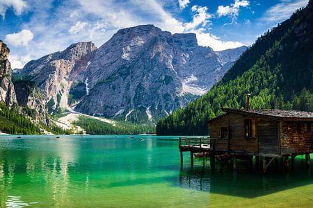 Dolomiten Südtirol - Am Pragser Wildsee , Lago di Braies