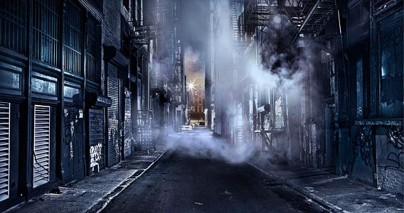 Gotham City - A Cinematic Impression Of Cortlandt Alley - Lower Manhattan - New York City
