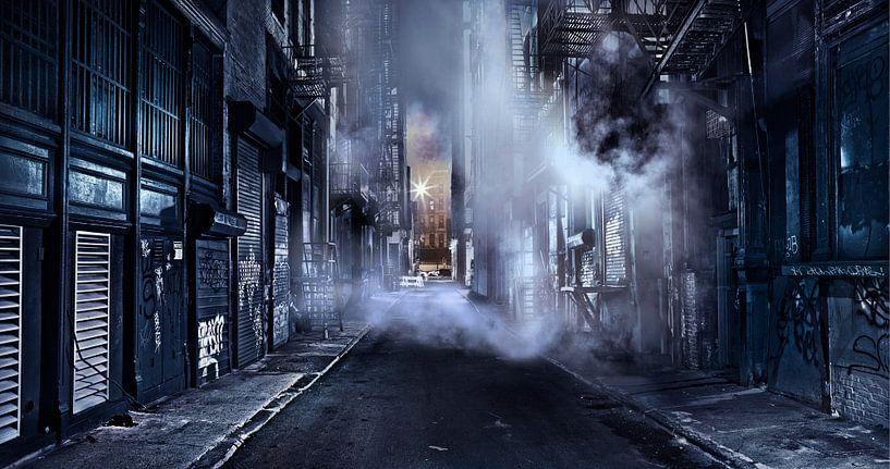 Gotham City - A Cinematic Impression Of Cortlandt Alley - Lower Manhattan - New York City van Nico Geerlings