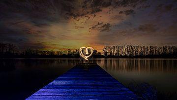 """Lightpainting """" LOVE"""" van Sven Frech"""