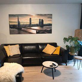 Photo de nos clients: Rotterdam horizon le matin (Paysage) sur Rob van der Teen, sur toile