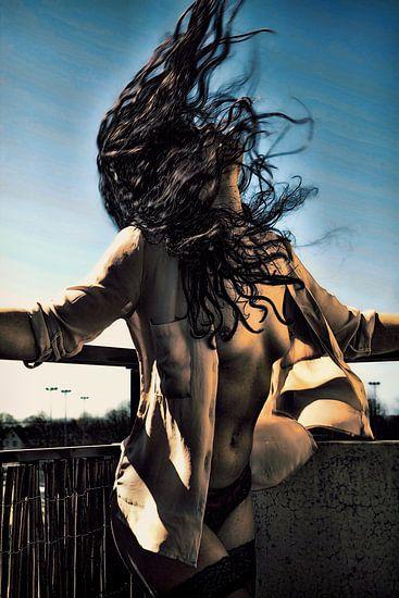 I love the Wind (nude / naakt) van Kees de Knegt