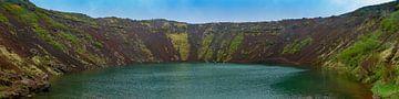 Kerid kratermeer in IJsland van Hans-Heinrich Runge