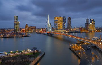 Vue du pont Erasmus à Rotterdam sur Arisca van 't Hof