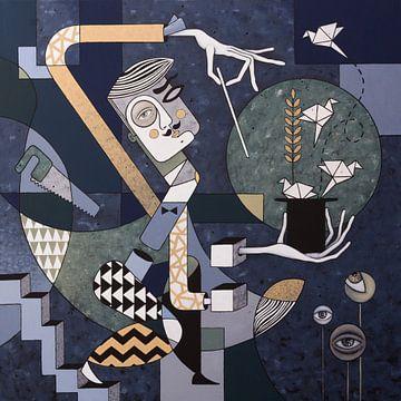 De goochelaar (nr.2020-11) van Kris Stuurop