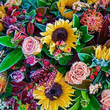 Bloemen bevroren boeket zonnebloemen van MONKI API
