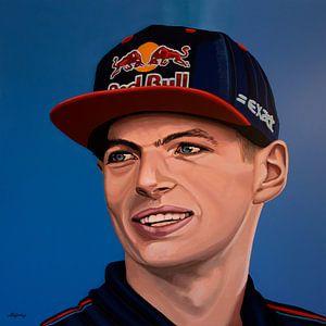 Max Verstappen Portret Schilderij