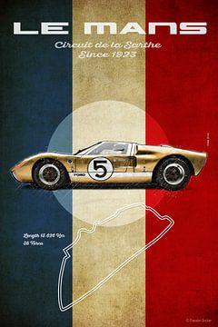 Le Mans Vintage GT40 van Theodor Decker