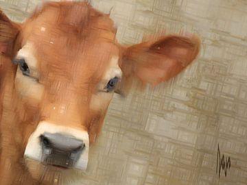 roodbont kalf, koe. van Alies werk