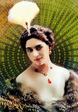 Kaleidoscopisch portret van Mata Hari