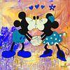 Mickey und Minnie Maus Regenbogen. von Kathleen Artist Fine Art Miniaturansicht