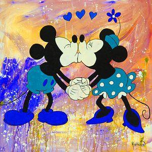 Mickey und Minnie Maus Regenbogen.