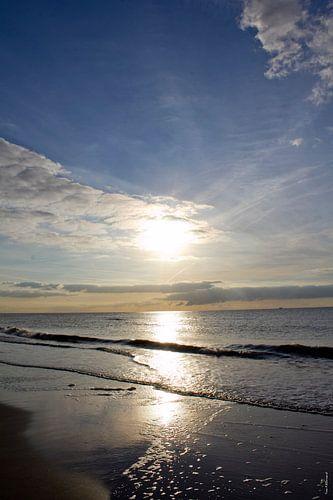 Zon op strand van