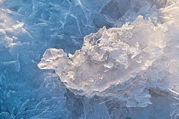 ijs abstractie van Ko Hoogesteger