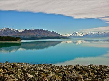 Meren in Nieuw Zeeland Zuidereiland van