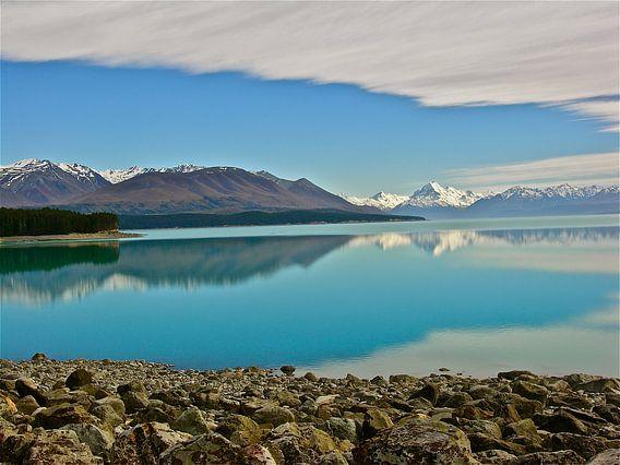 Meren in Nieuw Zeeland Zuidereiland van Iduna vanwoerkom