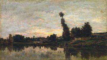 Sonnenuntergang an der Oise, Charles François Daubigny