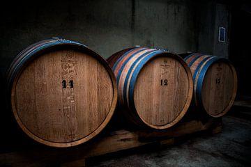 Fûts de vin sur Michel de Jonge
