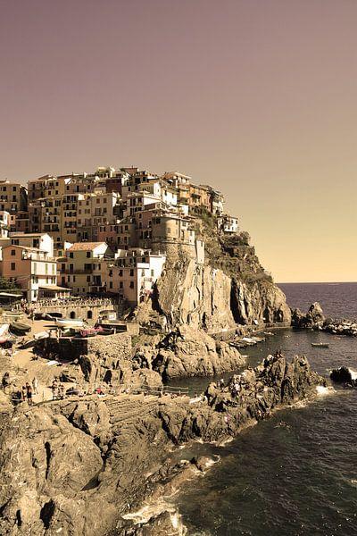 Cinque Terre Toscane Italië Oud van Hendrik-Jan Kornelis