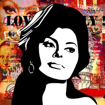 Sophia Loren sur Jole Art (Annejole Jacobs - de Jongh)