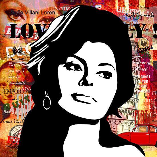 Sophia Loren van Jole Art (Annejole Jacobs - de Jongh)