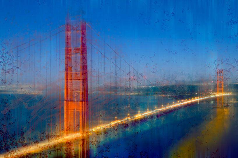 City-Art Golden Gate Bridge van Melanie Viola