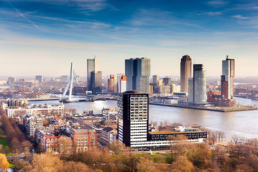 """De skyline """"Kop van Zuid"""" van Rotterdam van Evert Jan Luchies"""