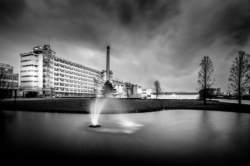 Van Nellefabriek Rotterdam (zwart-wit) van Prachtig Rotterdam
