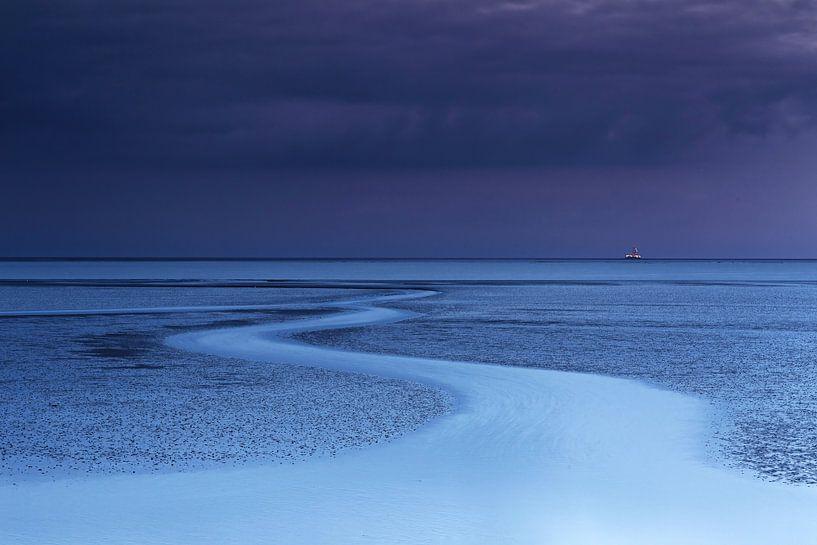L'heure bleue à la mer des Wadden sur Frank Herrmann