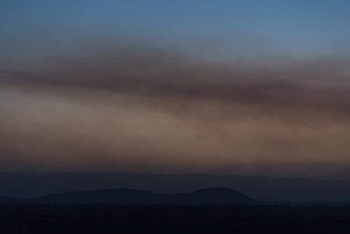 Bruine zonsondergang in Oost-Afrika | Ethiopië