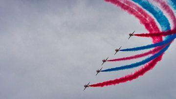 RAF Red Arrows demonstratieteam in de Goose formatie van Ed Steenhoek