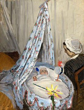 Die Wiege, Camille mit der Sohn des Künstlers Jean, Claude Monet
