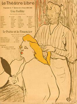 Friseur, Programm für die Theater Libre, Henri de Toulouse-Lautrec von Liszt Collection