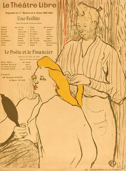 De Kapper, Programma voor de Theatre Libre, Henri de Toulouse-Lautrec van Liszt Collection