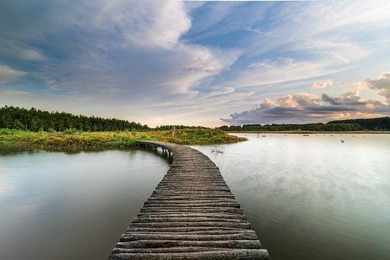 Hollands Polderlandschap en zonsondergang
