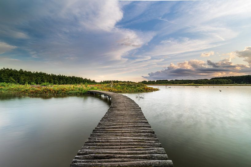 Hollands Polderlandschap en zonsondergang van Original Mostert Photography