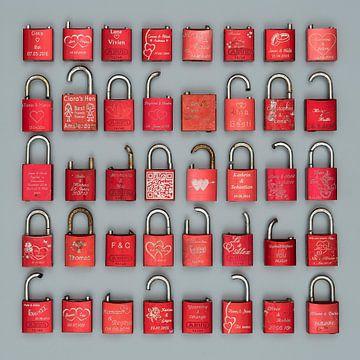 Liefdesslotjes in rood van Floris Kok