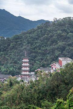 Pagode en tempels in Sha Tin van Mickéle Godderis