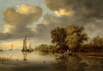 Flusslandschaft, Salomon van Ruysdael