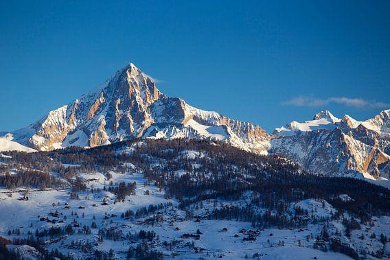 Alpenglühen Bietschhorn