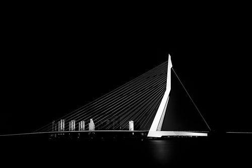 Erasmusbrücke schwarz und weiß