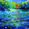 Blue pond von pol ledent Miniaturansicht