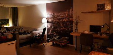 Kundenfoto: Rotterdam in de avond (sepia2) von John Ouwens