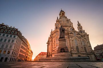 Frauenkirche Dresden bij zonsopgang van Marc-Sven Kirsch