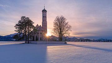 St. Coloman kerk, Hohenschwangau, Beieren, Duitsland van Henk Meijer Photography