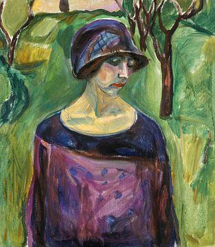 Birgit Prestøe in de tuin, Edvard Munch