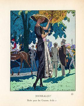 Jugendstil Vintage tijdschrift cover Gazette Bon Ton, 1920 sur Martin Stevens