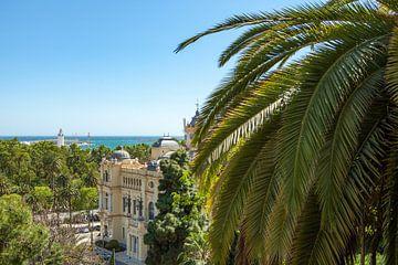Das Rathaus von Málaga, der Park und der Hafen.