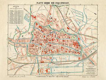 Plattegrond Utrecht - 1880
